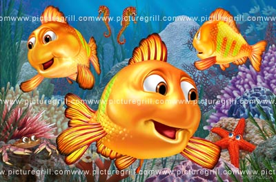 illustrator of 3d fish art