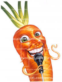 children book of vegetables like carrot art