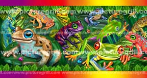 pattern artist of frog border art